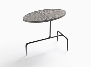 Bridger Oval Occasional Table, Wood Top
